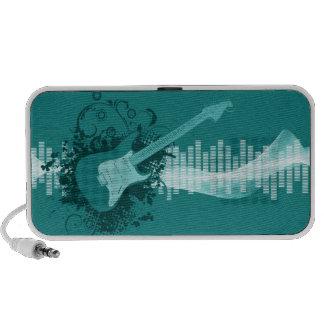 Guitare bleue haut-parleur iPod