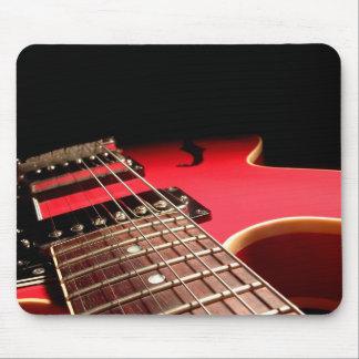 Guitare électrique rouge tapis de souris