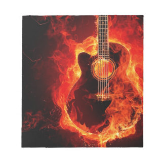 Guitare en feu notepads