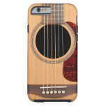 Guitares acoustique de ficelle de cuirassé six coque iPhone 6 tough