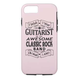 GUITARIST awesome classic rock band (blk) iPhone 8/7 Case