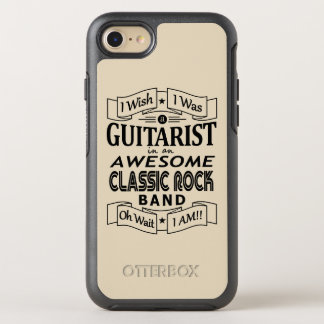 GUITARIST awesome classic rock band (blk) OtterBox Symmetry iPhone 8/7 Case