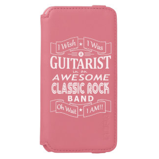 GUITARIST awesome classic rock band (wht) Incipio Watson™ iPhone 6 Wallet Case