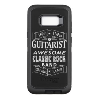 GUITARIST awesome classic rock band (wht) OtterBox Defender Samsung Galaxy S8+ Case