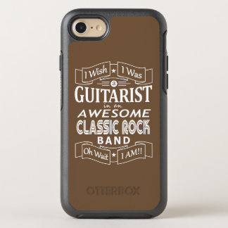 GUITARIST awesome classic rock band (wht) OtterBox Symmetry iPhone 8/7 Case
