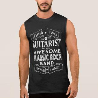 GUITARIST awesome classic rock band (wht) Sleeveless Shirt