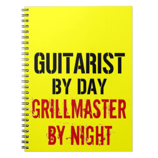 Guitarist Grillmaster Notebook