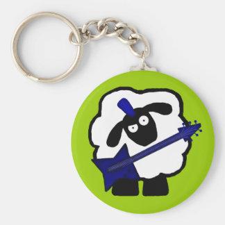 Guitarist Sheep Keychain