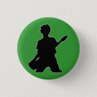 Guitarist Silhouette - B&W 1 Inch Round Button