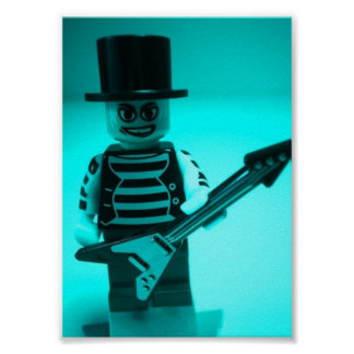 Guitariste d Emo Minifig fait sur commande par Cus Affiches