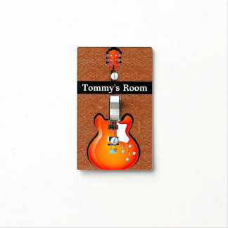 Guitars Design Light Switch Cover