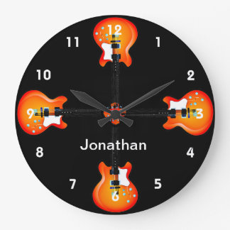Guitars Design Wall Clock