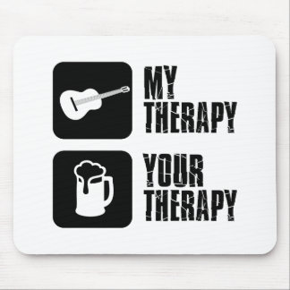 guitars my therapy mouse pad