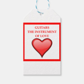 GUITARS PACK OF GIFT TAGS