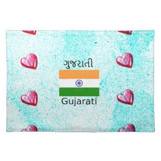 Gujarati (India) Language And Flag Design Placemat