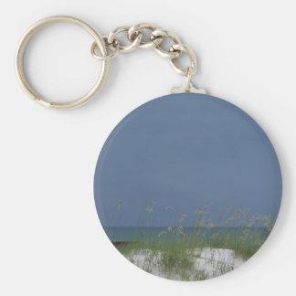 Gulf beach scene keychain