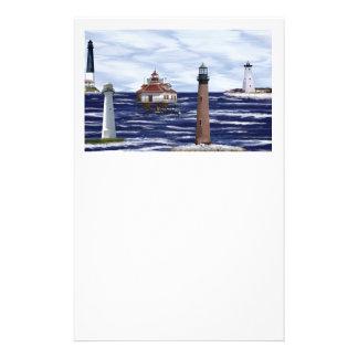 Gulf Coast lighthouses Stationery
