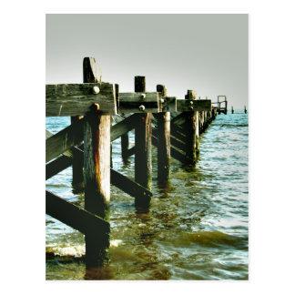 Gulf Coast Mississippi Destroyed Pier Postcard