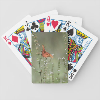 Gulf Fritillary Butterfly Bicycle Playing Cards