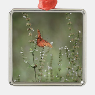 Gulf Fritillary Butterfly Metal Ornament