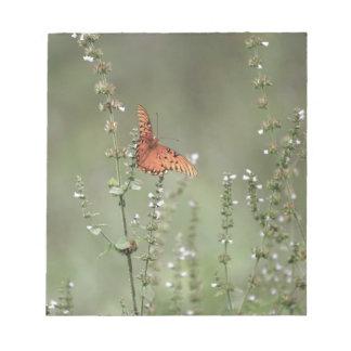 Gulf Fritillary Butterfly Notepad