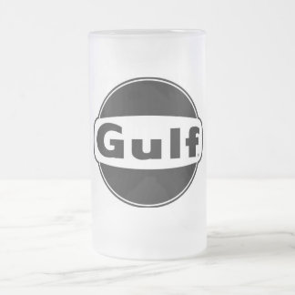 Gulf Frosted Glass Beer Mug