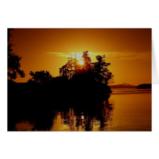 Gulf island sunset card