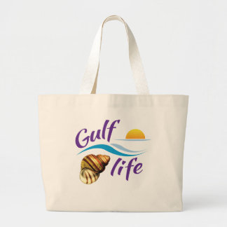Gulf (of Mexico) Life beach tote bag