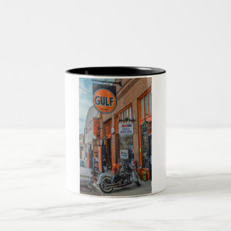 Gulf Oil Two-Tone Coffee Mug