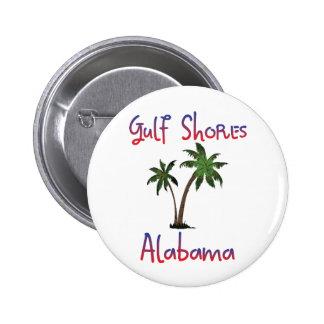 Gulf Shores Alabama 2 Inch Round Button