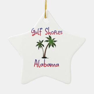 Gulf Shores Alabama Ceramic Star Ornament