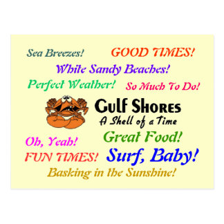 Gulf Shores Crab Postcard