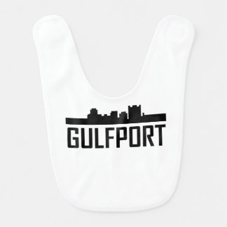 Gulfport Mississippi City Skyline Bib