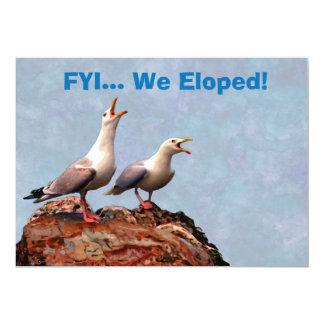 Gull Announcement We Eloped