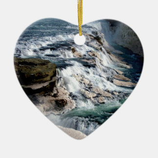 Gull Foss Waterfall Iceland Ceramic Ornament