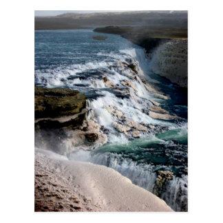 Gull Foss Waterfall Iceland Postcard