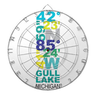Gull Lake, MI Coordinates - Water Dartboard