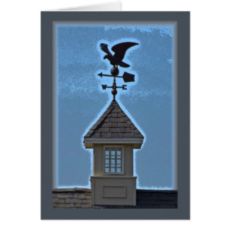Gull on a Weathervane Card