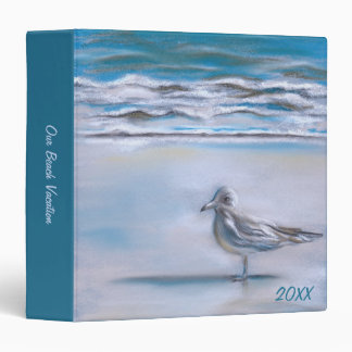 Gull on the Shore 3 Ring Binder