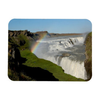 Gullfoss waterfall in summer rectangular photo magnet