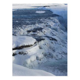 Gullfoss waterfall postcard