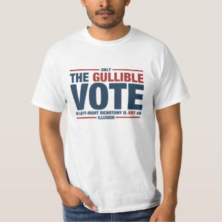 Gullible Vote Men's T-shirt