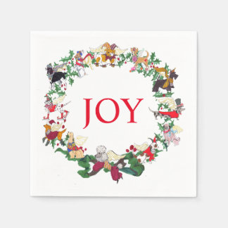 Gullivers Angels 12 Dogs of Christmas Paper Napkin