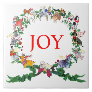 Gullivers Angels Ceramic Holiday Tile Trivet v.2