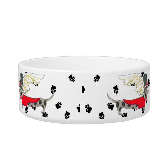 Gulliver's Angels Dapple Dachshund Dog Bowl
