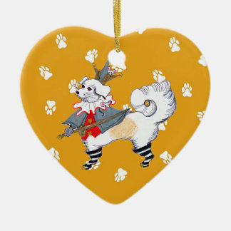 Gulliver's Angels Gia the Mouse Queen Heart Ceramic Ornament