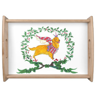 Gulliver's Angels Golden Retriever Serving Tray
