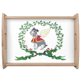Gulliver's Angels Schnauzer Holiday Serving Tray