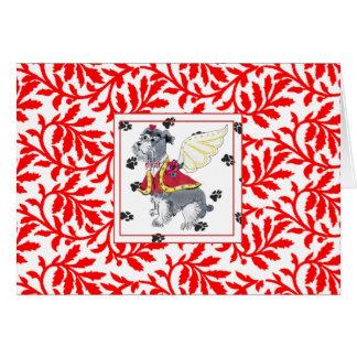 Gulliver's Angels Schnauzer NOEL Holiday Card
