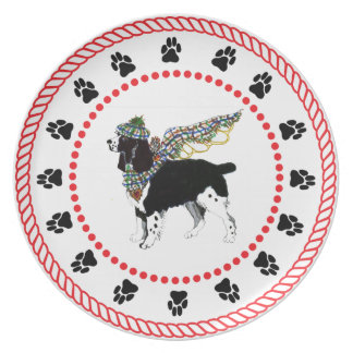 Gulliver's Angels Springer Spaniel Dinner Plate